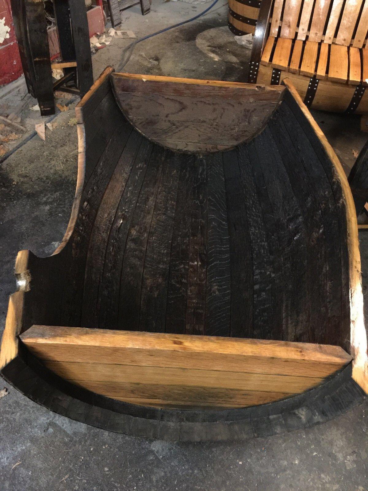 Letto Letto Letto per Cane Riciclato in Legno Quercia Massiccio Whisky Barile Lusso XXL 15948e
