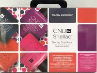 Cnd Shellac Trendy Trial Kit Ed Uv/led Gel Power Polish Intro Gift Set