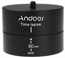 Andoer 360 Degrees Panning Rotating Time Lapse Stabilizer Tripod Adapter For