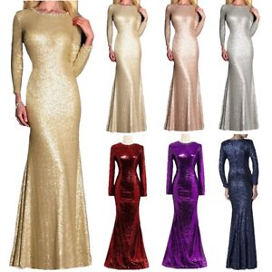 Sequin-Scoop-Mother-Of-The-Bride-Dress-Long-Evening-Party-Mermaid-Prom-Gown-Plus