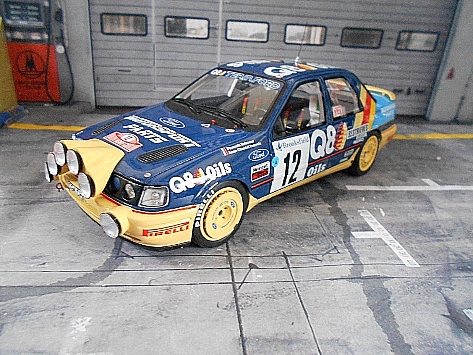 Ford Sierra RS Cosworth Rallye 4x4 Monte  voiturelo 1991 Delecour q8 RAR Otto 1 18  haute qualité générale
