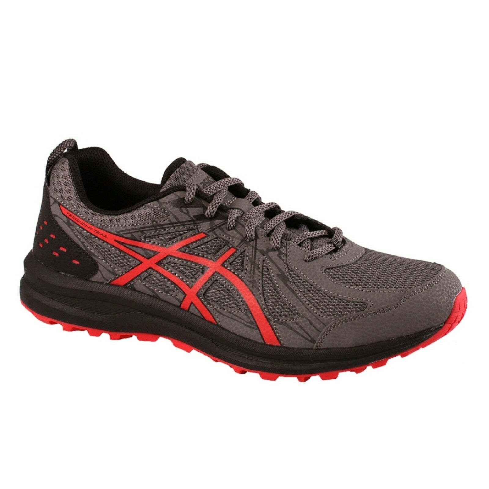 Men's Asics FREQUENT TRAIL (4E) 1011A138/020 Carbon Lace-Up Trail Running Shoes
