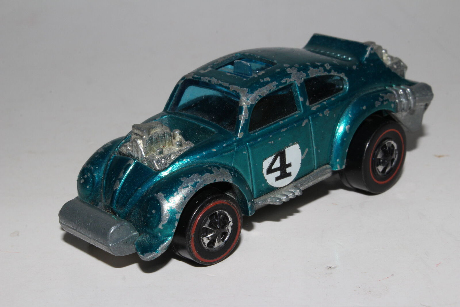 HOT WHEELS REDLINE EVIL WEEVIL, METALLIC AQUA, HONG KONG, ORIGINAL