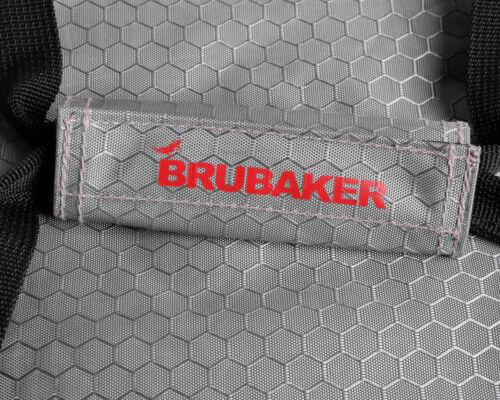 BRUBAKER /'SuperTec/' Ski Stiefeltasche Rucksack mit Schuhfach Helmfach Silber