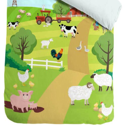 ESPiCO Wende Bettwäsche Sleep and Dream Bauernhof Tiere Traktor Pferde