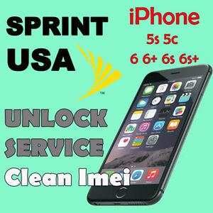 unlock iphone 5s sprint unlock service sprint usa iphone 5c 5s 6 6 6s 6s se 7 7 16335