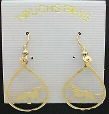 Saluki Jewelry Gold Dangle Earrings by Touchstone