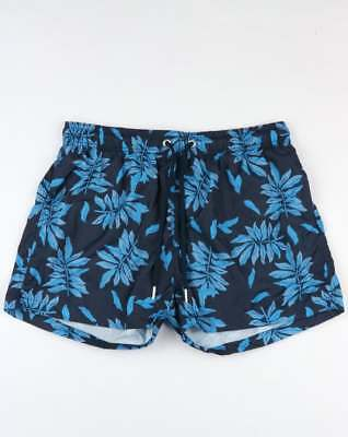 Diskret Gant Leaves Print Swim Shorts In Blue - Swimmers, Beach Shorts, Holiday Short