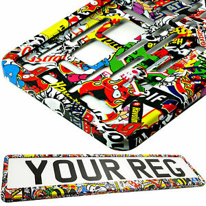 STICKERS-TUNING-Car-Number-Plate-Surround-Holder-FOR-ANY-CAR-TRUCK-VAN-TRAILER