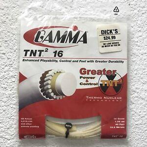 Gamma-TNT2-16G-Tennis-String-Natural-16-gauge-40-Feet