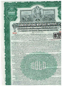Farmers-National-Mortgage-Institute-Kingdom-of-Hungary-1928-1000-Gold-Bond