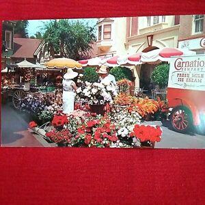 Disneyland CARNATION FLOWER MART Vintage Postcard NEW Walt Disney Productions