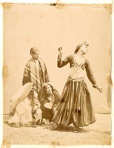 Egypte-Famille-de-Bedouins-Vintage-albumen-print-Tirage-albumine-20x25