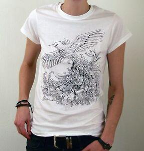 Phoenix-T-Shirt-Kerby-Rosanes-Illustrated-Animorphia-Print-Women-039-s-Fit