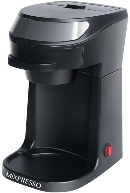 Drip Coffee Tea Maker Pod Brewer Machine Single Serve Cup Compact Plastic Black