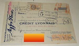 MANDAT-Juillet-1931-Societe-Francaise-pour-l-039-IMPORTATION-d-039-ALLEMAGNE-AGFA-Photo