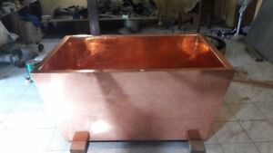 Vasca Da Bagno Di Rame : Vasca da bagno da appoggio ovale in rame in stagno bateau