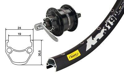 Nabendynamo DH-3D32 6-Loch QR Bike-Parts 26″ Vorderrad Mavic XM 319 Disc