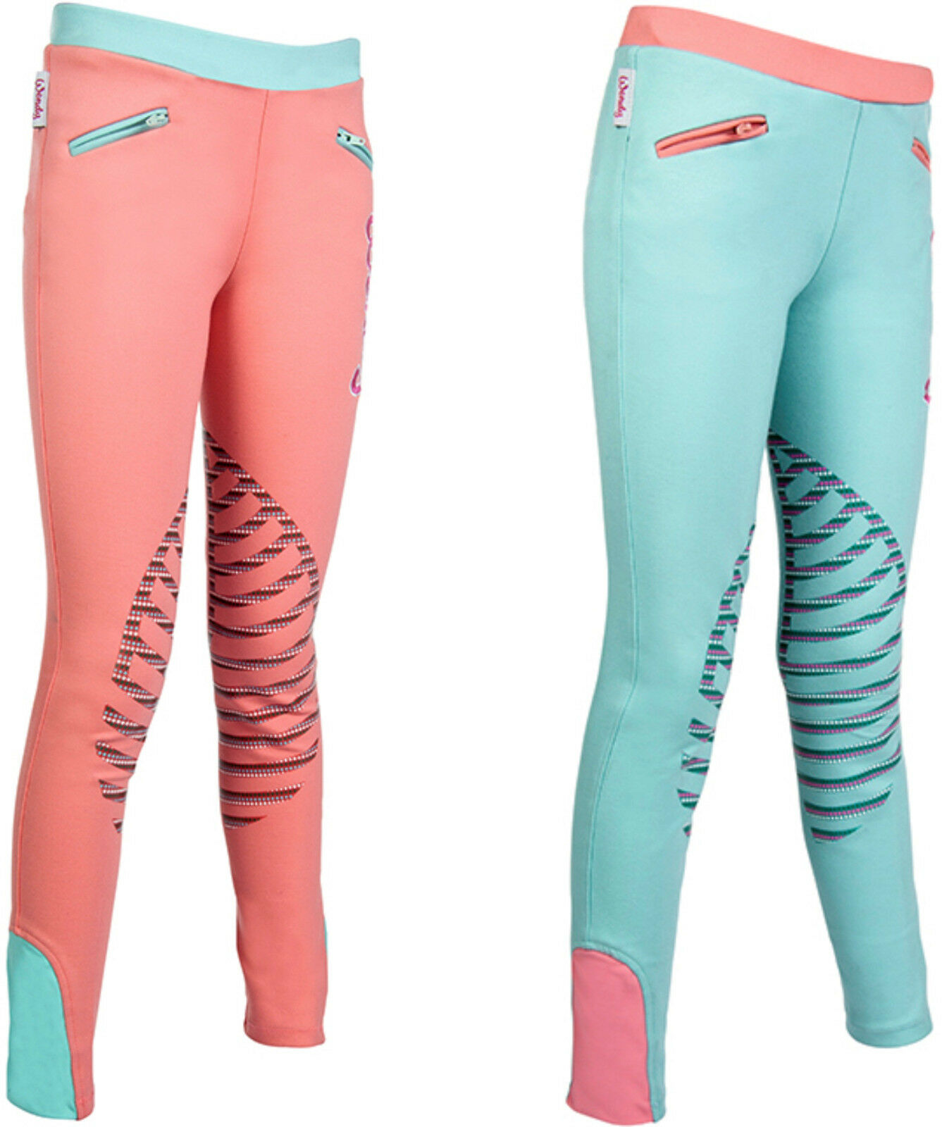 HKM Wendy Reitleggings with Silicone Knee Patch Riding Breeches (9979)