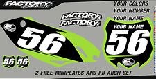 Kawasaki KXF450 2012 Pre Printed Number plate Backgrounds BASIC SERIES