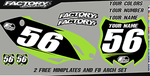 Kawasaki KX125-250 94-98 Pre Printed Number plate Backgrounds BASIC SERIES