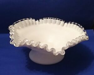 Fenton Silver Crest Small Candy Dish North American Pottery & Glass
