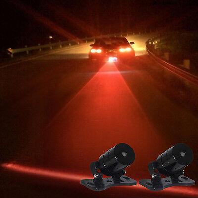 Car Auto Vehicle LED Laser Fog Light Anticollision Taillight Brake Warning Lamps