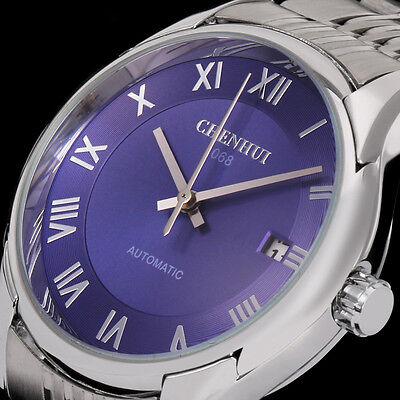 New Men's Fashion Date Automatic Mechanical Sport Military Army Wrist Watch