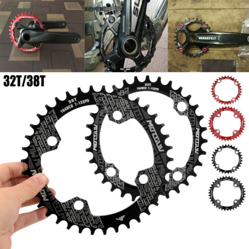 32T 38T 104BCD MTB Mountain Bike Chainring Round Oval Narrow Wide Chain Ring