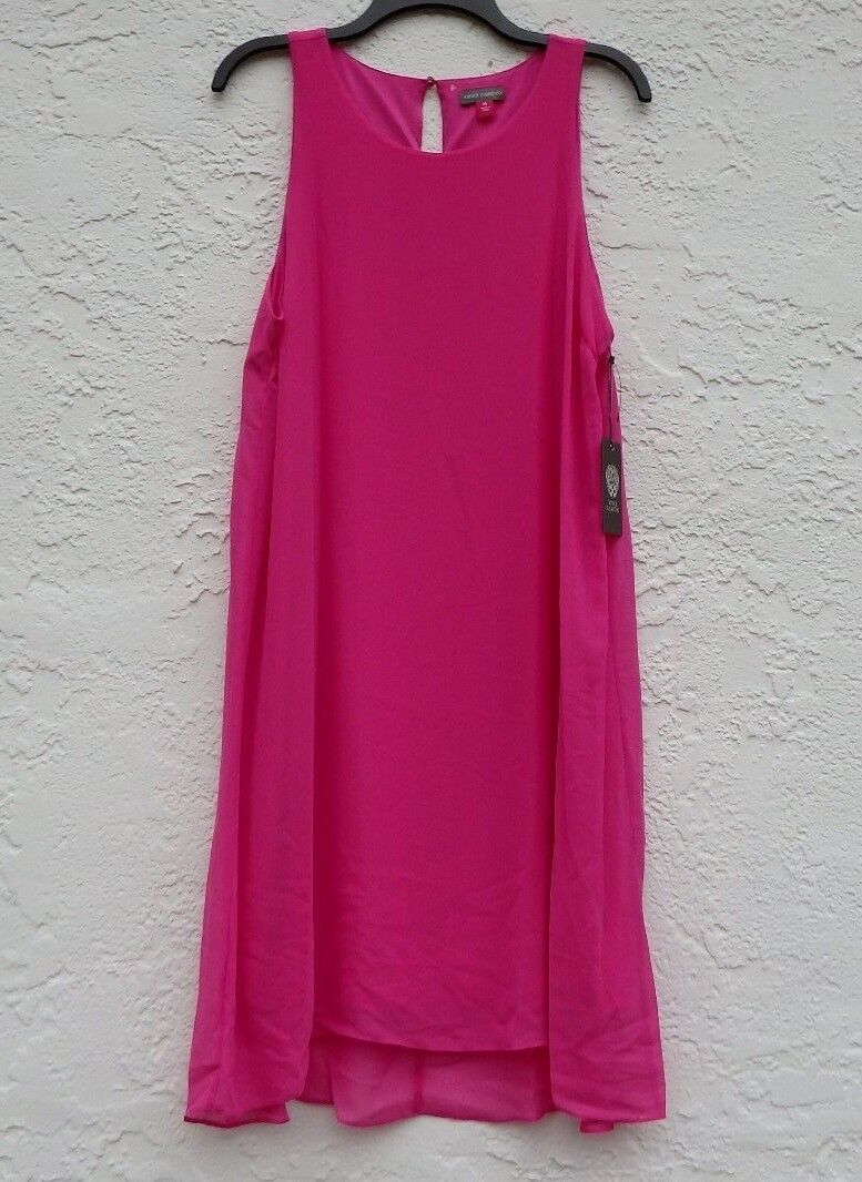 NWT Vince Camuto Hi-Low Fully Lining Dress Pink SZ M