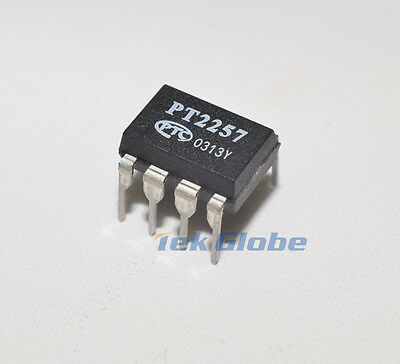 1pcs I2C 2 channels digital volume controller IC PT2257 NEW