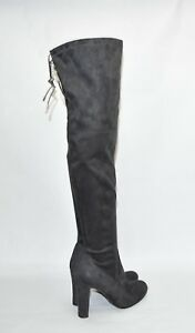 42434b76feb New! Sam Edelman  Kent  Over the Knee Boot Gray Suede Size 8 OTK