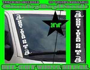 DON-039-T-TREAD-ON-ME-VERTICAL-Windshield-Vinyl-Decal-Sticker-Car-Truck-2nd-Gun-Mud