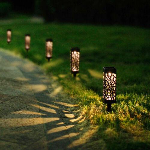 2-8pcs LED Solar Powered Lights Garden Waterproof Pathway Driveway Security Lamp