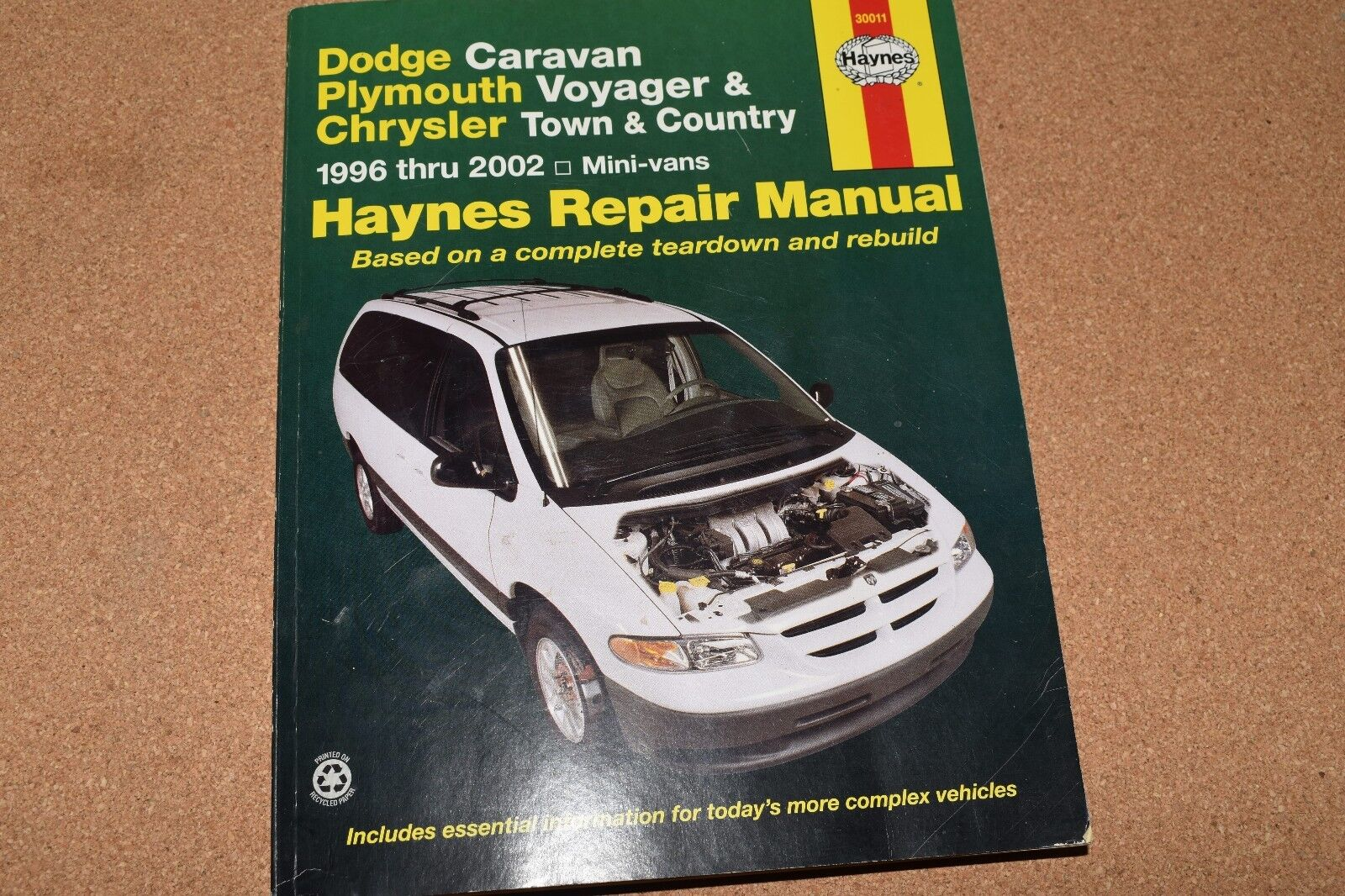 1996 to 1999 Caravan Voyager Town & Country - Haynes Repair Manual # 30011  | eBay
