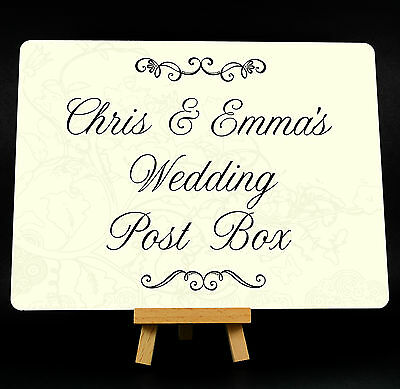 Personalised Wedding Post Box Metal Plaque Sign