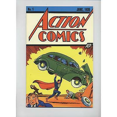 SUPERMAN # 37 - FLIP-COVER REPRINT ACTION COMICS #1 - DINO VERLAG - TOP