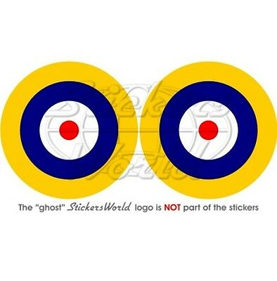 """Stickers Decals x2 75mm BELGIUM Belgian Air Force Aircraft Roundel 3/"""""""