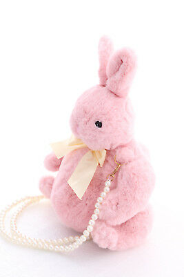 LB-76-1 rosa Plüsch Hase Bunny Rabbit Perlenriemen Goth Lolita Bag Japan Tasche