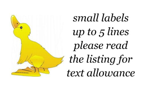 Duck Design Small or Large Sticky White Paper Stickers Labels NEW