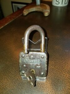 Image Is Loading Vtg Antique Master Lock No 99 Greyhound Padlock