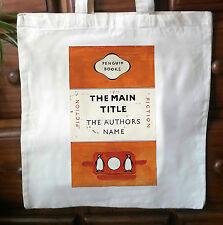 Vintage Penguin cubierta de libro ecológico de algodón Tote Bag-Penguin Classics