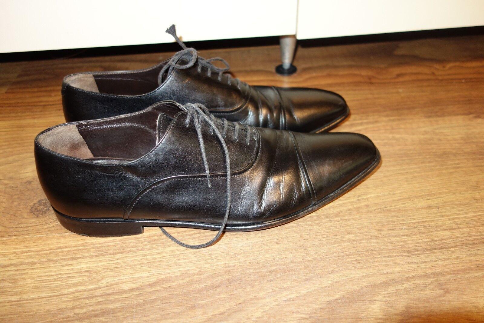 GREAT PAL ZILERI schuhe, LEATHER schwarz, schwarz, schwarz, Größe UK 9.5 E, US 10, EU 44, VERY GOOD cfa632