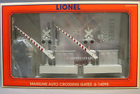 Lionel Mainline Auto Crossing Gates Train Intersection O Gauge Sign Road 6-14098