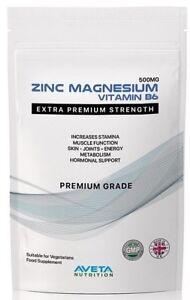 Intelligent Zinc Magnésium Vitamine B6 100% Pure Premium Comprimés De Testostérone & Sleep Zma-afficher Le Titre D'origine Bonne Conservation De La Chaleur