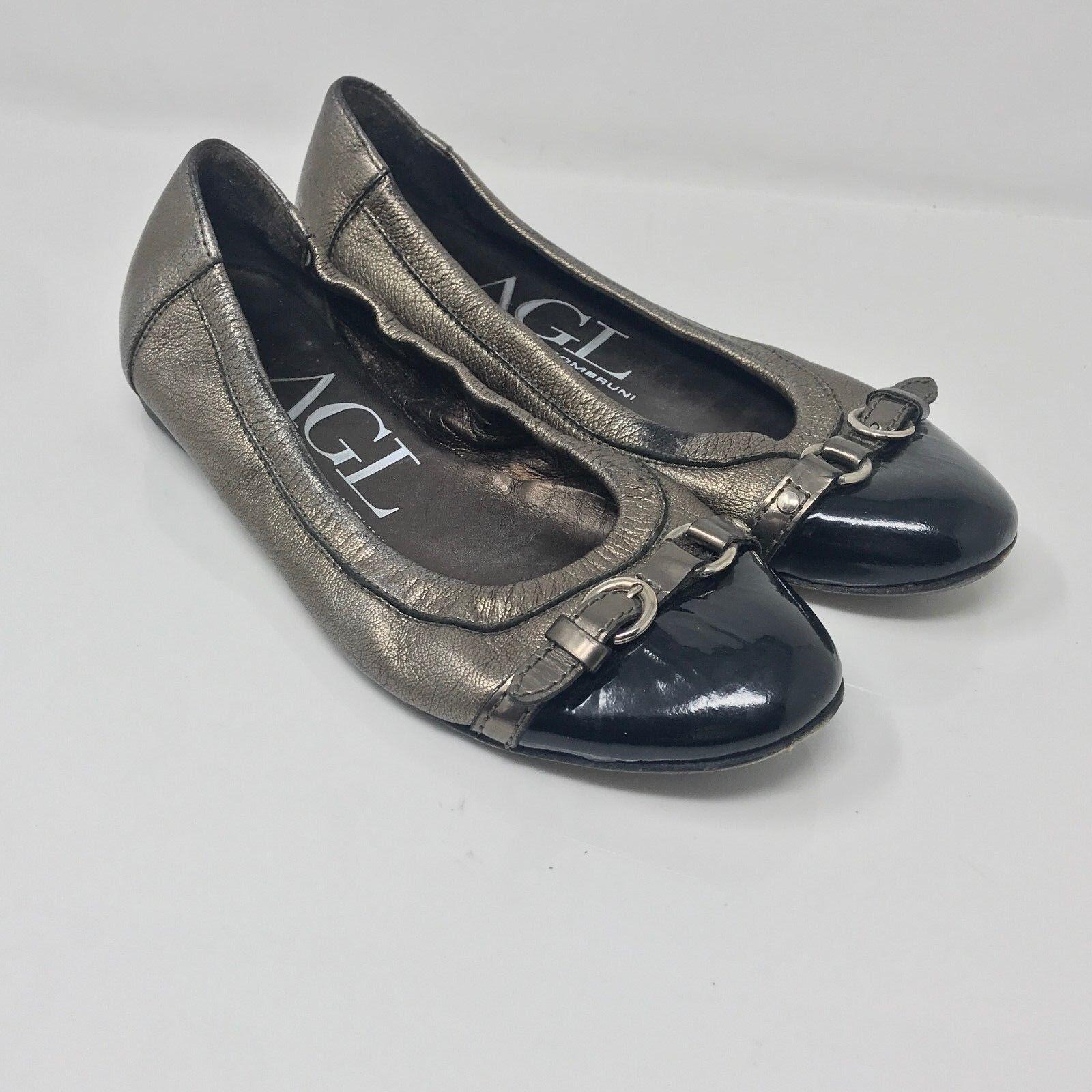 Attilio Giusti Leombruni AGL Cap Toe buckle leather Ballet Flats size 36 6