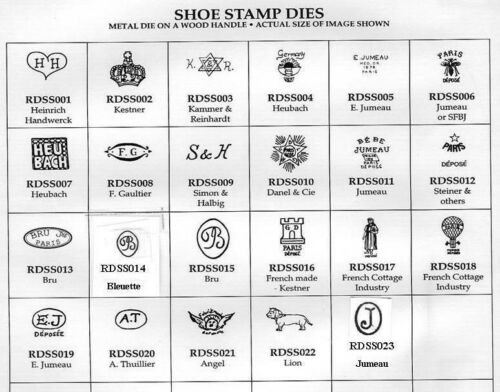 Shoe Stamps For Antique Doll Shoe Making