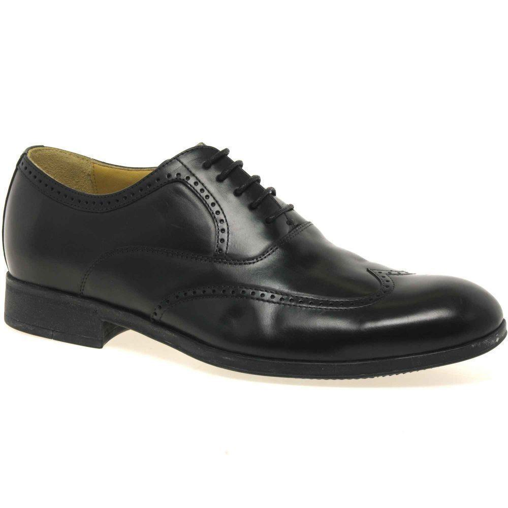 Steptronic Bugatti Black Soft Leather wing cap brogue Lace up Formal shoe