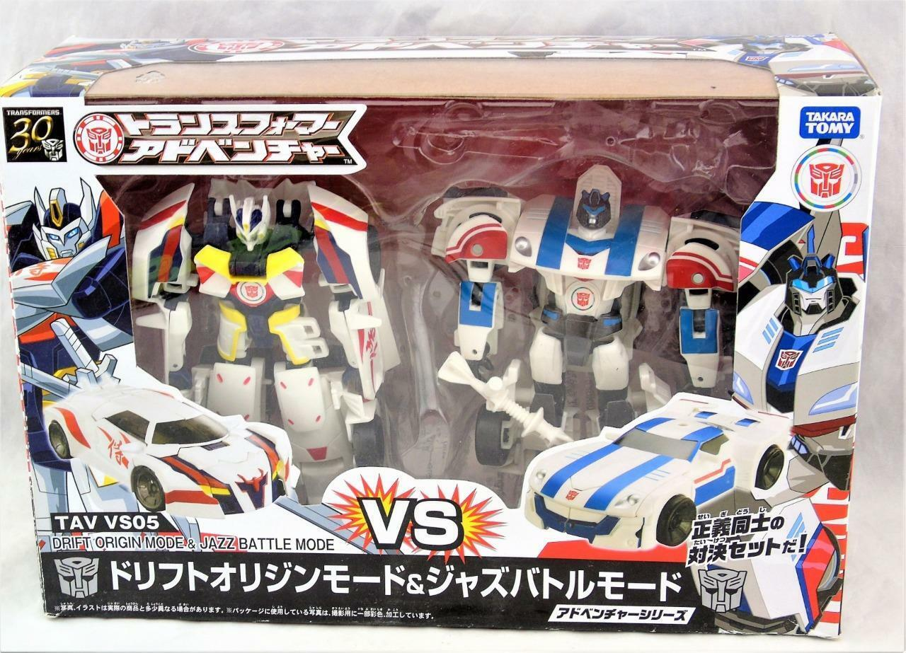 Transformers Takara TAV VS05 Drift vs Jazz Deluxe Class Complete
