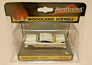 HO-Scale-Woodland-Scenics-Rusty-039-s-Regret-Auto-Scene-039-s-AS5531